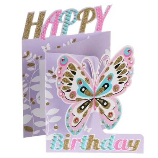 'Happy Birthday' Butterfly 3D Card