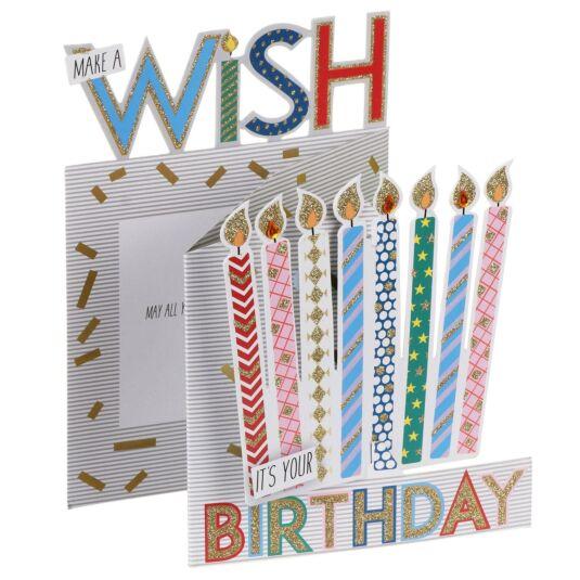 'Make a Wish' 3D Birthday Card