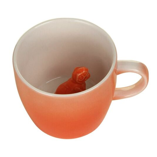 Orange Dinosaur Mug