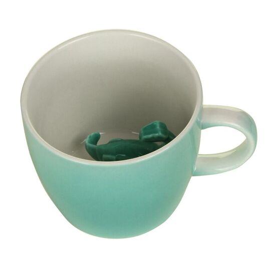 Turquoise Dinosaur Mug