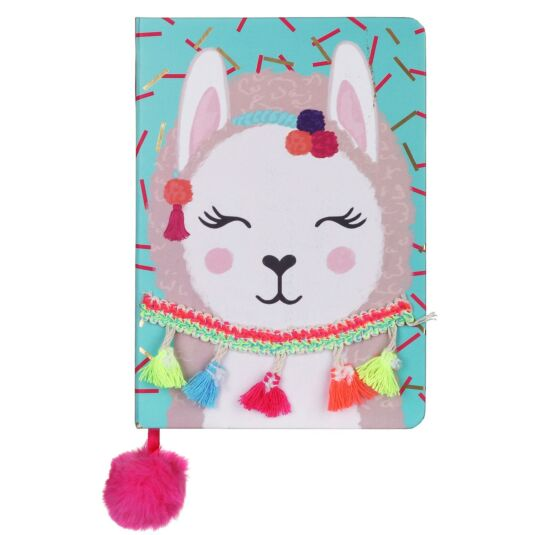 Candy Pop Llama A5 Notebook