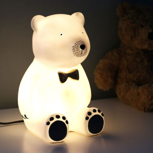Bear With Bow Tie Lamp