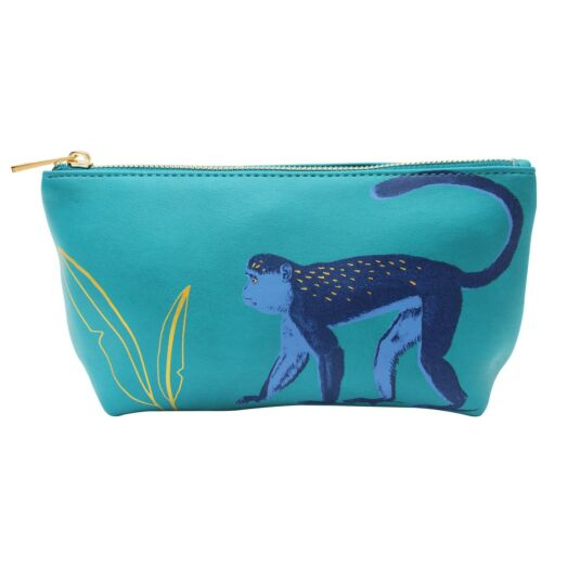 Heritage & Harlequin Monkey Make Up Bag