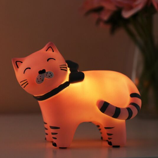 Small LED Cat with Bow Light