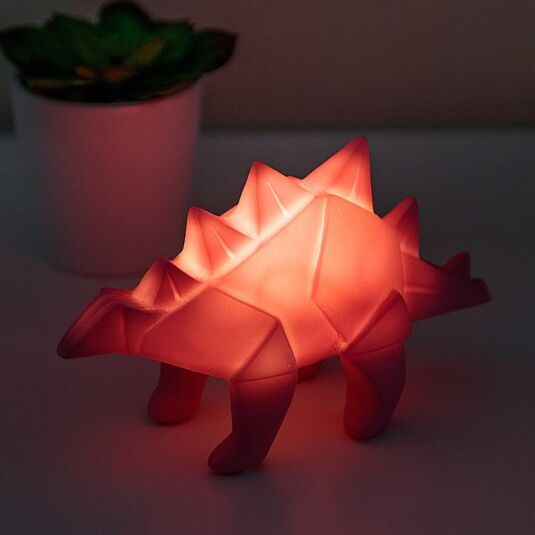 Small Pink Dinosaur LED Origami Light