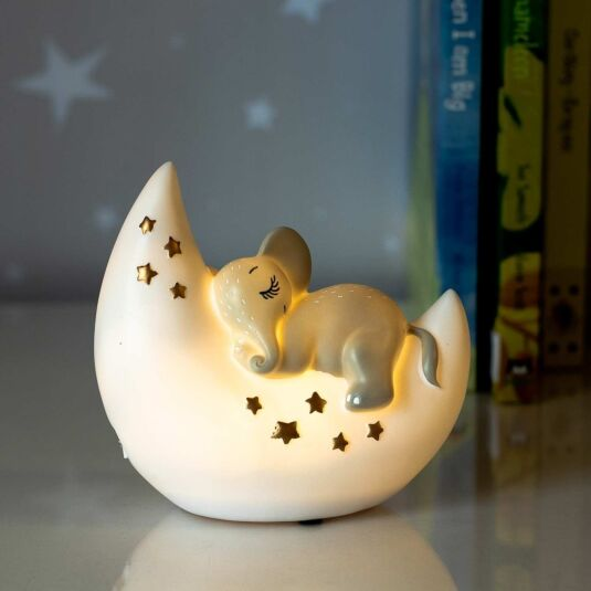 Small LED Elephant and Moon Light
