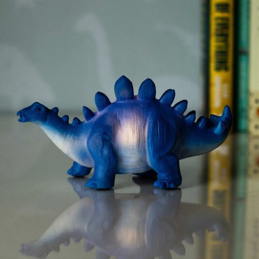 Small LED Blue Stegosaurus Light