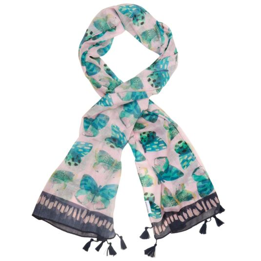 Papillon Pink Butterfly Scarf