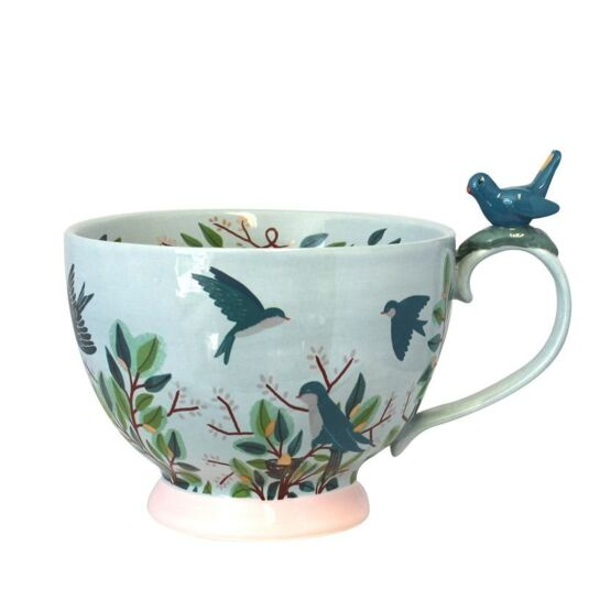 Secret Garden Bird Teacup with Gift Box