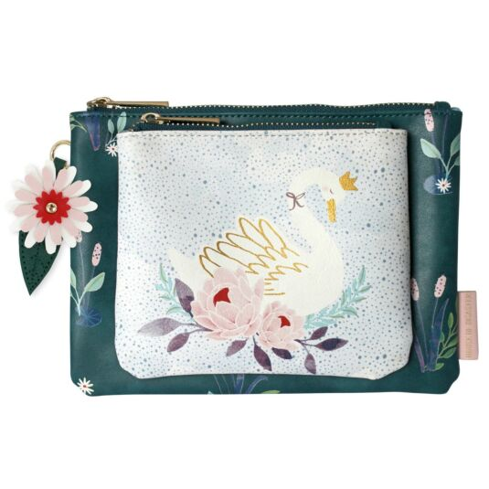 Secret Garden Swan Makeup Bag