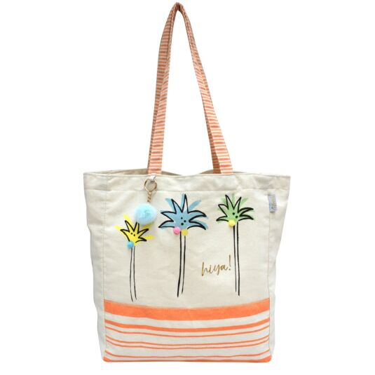 Sherbet Palm Tree Shopper Bag