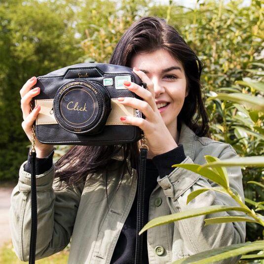 Disaster Designs Eye Spy Camera Shaped Mini Bag