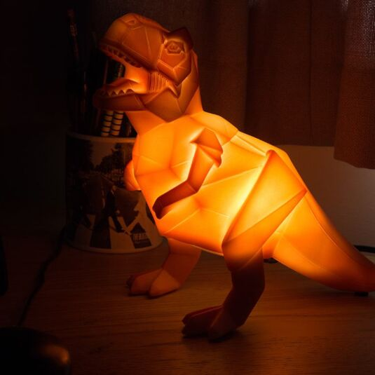 Orange Dinosaur Origami Lamp