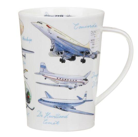 Classic Aircraft Argyll Shape Mug