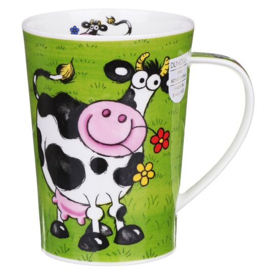 Funny Farm Cow Argyll Shape Mug