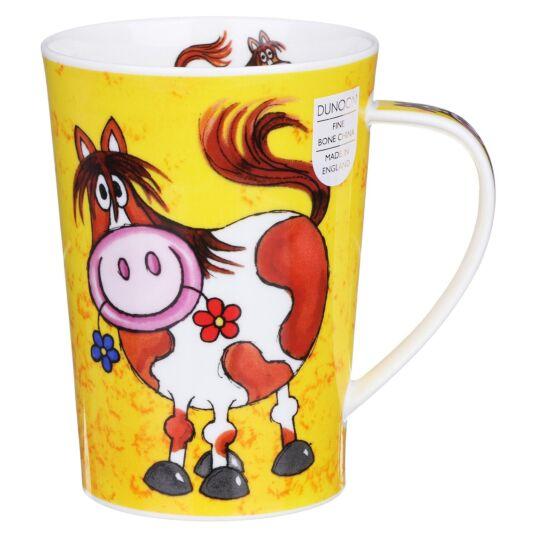 Funny Farm Horse Argyll Shape Mug