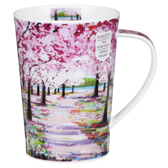 Woodland Path Pink Argyll Shape Mug