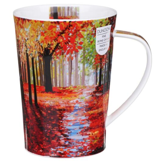 Woodland Path Red Argyll Shape Mug