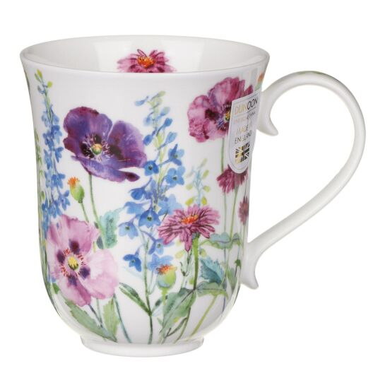 Cottage Flowers Purple Braemar Shape Mug