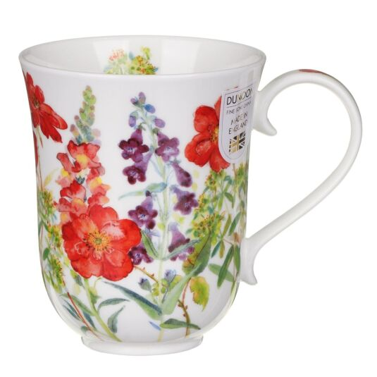 Cottage Flowers Red Braemar Shape Mug