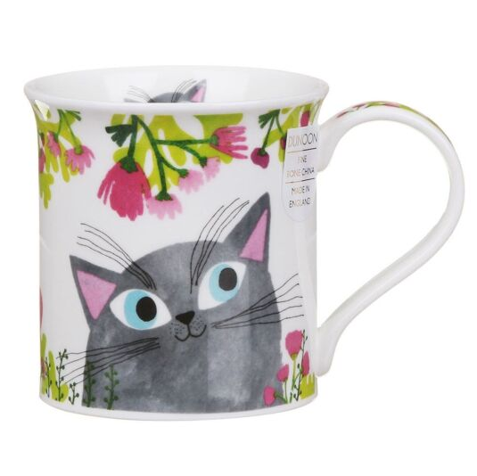 Bright Eyes Grey Bute Shape Mug