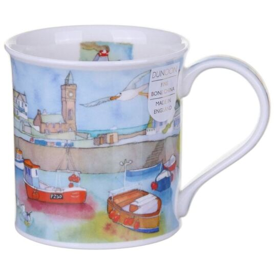 Coastal View Harbour Bute Shape Mug