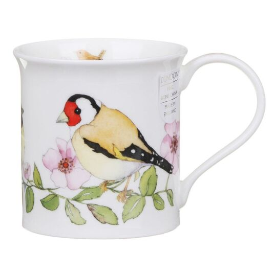 Hedgerow Birds Dog Rose Bute Shape Mug