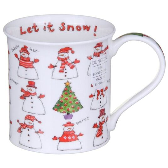Snowmen Bute Shaped Mug