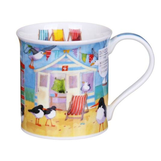 Waterfront Beach Huts Bute Shape Mug