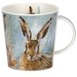 Animals on Canvas Hare Cairngorm shape Mug