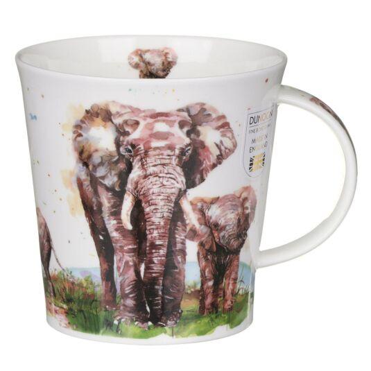 Serengeti Elephant Cairngorm Shape Mug