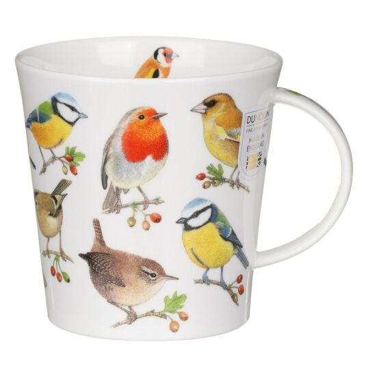 Song Bird Berries Cairngorm Shape Mug