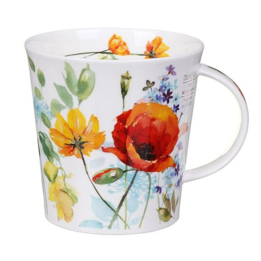 Country Garden Red Poppy Cairngorm Shape Mug