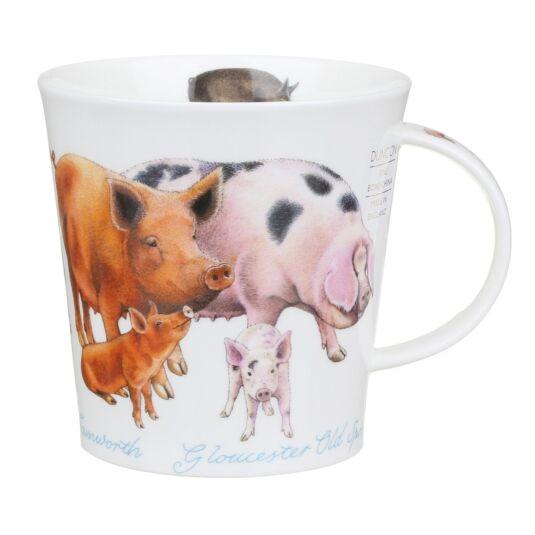 Farmyard Pigs Cairngorm Shape Mug