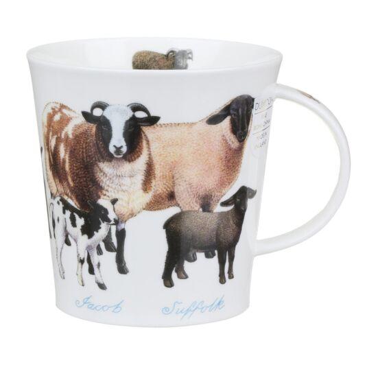 Farmyard Sheep Cairngorm Shape Mug
