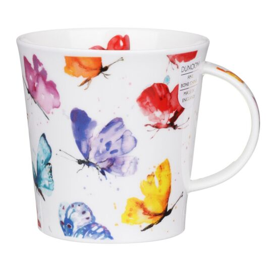 Flight of Fancy Butterfly Cairngorm Shape Mug