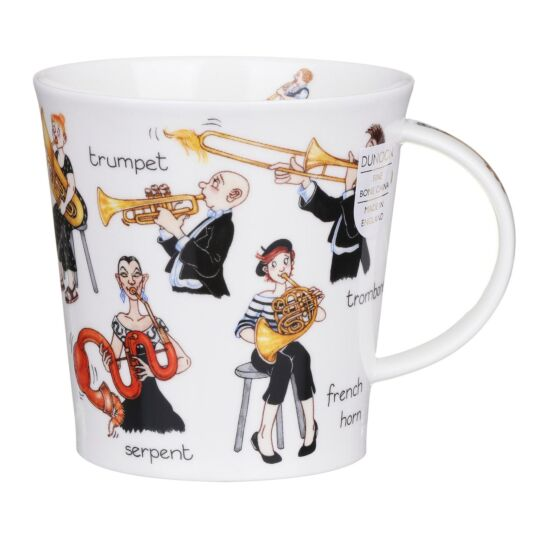 Musical Mayhem Brass Cairngorm Shape Mug