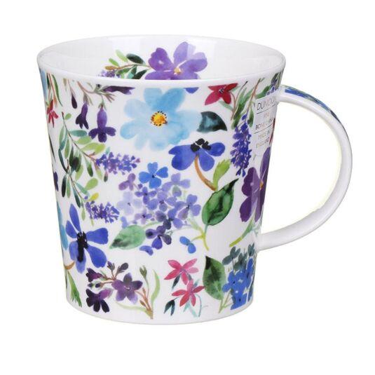 Scattered Flowers Blue Cairngorm Shape Mug
