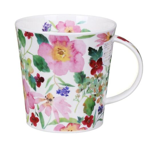 Scattered Flowers Pink Cairngorm Shape Mug