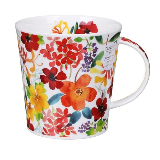 Scattered Flowers Red Cairngorm Shape Mug
