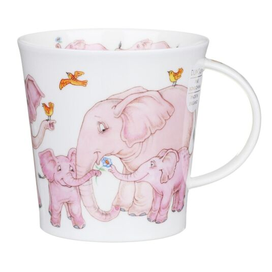 Tickled Pink Elephant Cairngorm Shape Mug