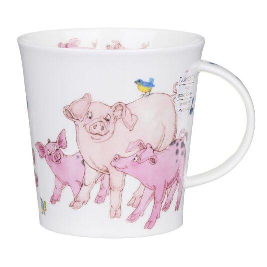 Tickled Pink Pig Cairngorm Shape Mug