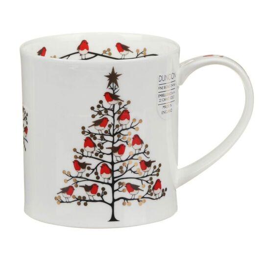 Festive Robins Orkney Shape Mug