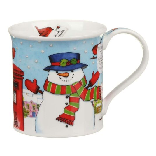 Christmas Post Box Snowman Bute Shape Mug