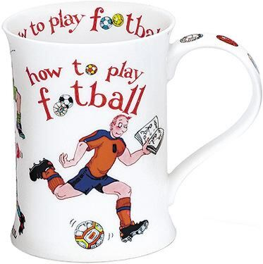 How to Play Football Cotswold shape Mug