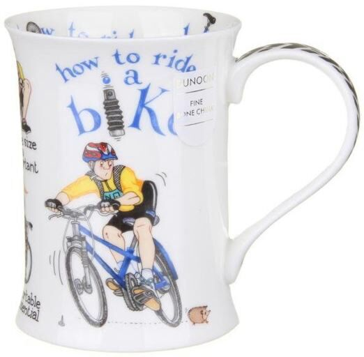 How to Ride a Bike Cotswold shape Mug