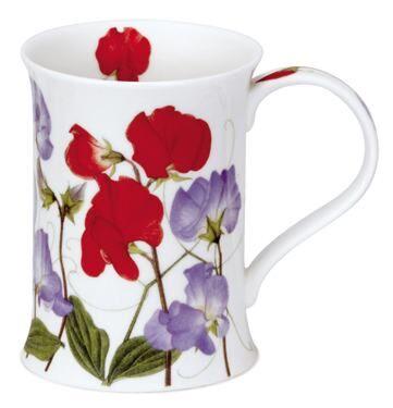 Sweet Peas Red Cotswold shape Mug