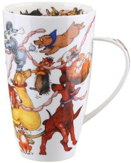 Dogs Frolics Henley shape Mug