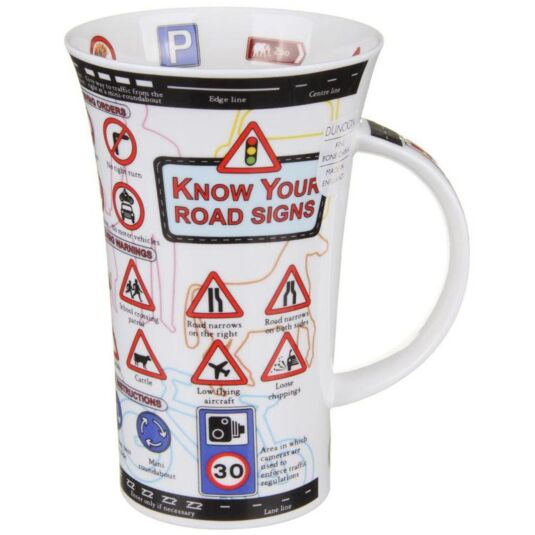 Know Your Road Signs Glencoe shape Mug