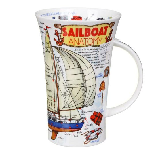 Sailboat Anatomy Glencoe Shape Mug